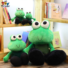 Simulation Plush Green Big Eye Frog Toy Stuffed Animal Doll Baby Kids Children Birthday Gift Home Shop Decor Ornament Triver стоимость