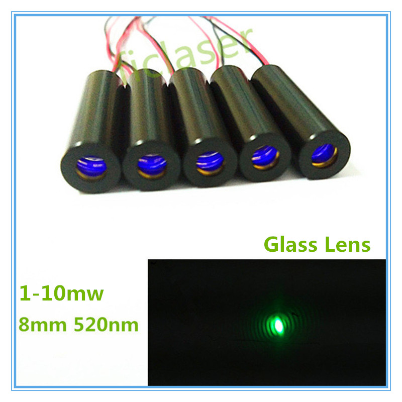 8mm Low Operating Temperature 1mW 5mW 10mW 520nm Green Dot Laser Diode Module Industrial Grade APC Driver TYLASERS