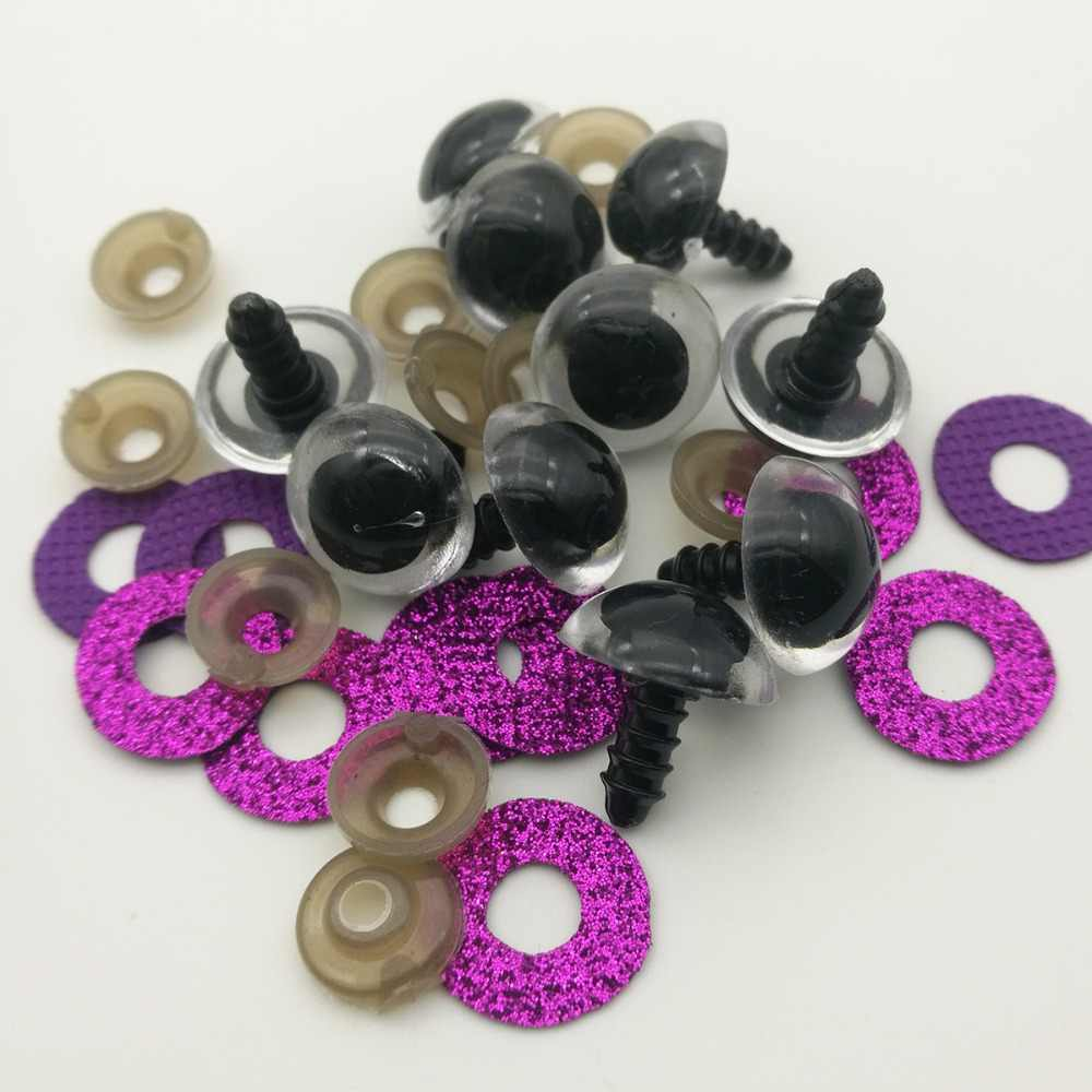100 шт 24 мм блестящие пластиковые кукольные глаза безопасные глаза для плюшевого мишки мягкие игрушки оснастки животное Скрапбукинг кукла амигуруми
