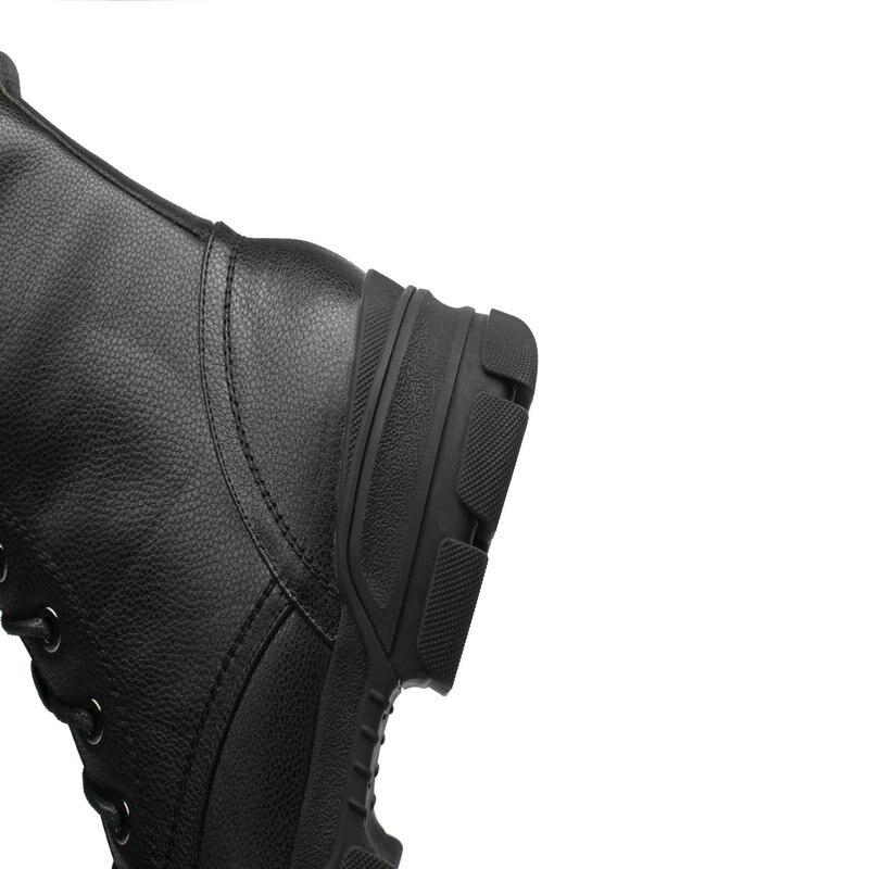 Hebilla 2019 Vaca De Metal Cordones Zapatos Bajos Cuero Con Para Decoración Cortas Mujer Punta Tobillo Marca Botas Tacones Beige Redonda negro IxYdwqvFv