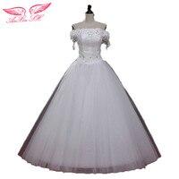 AnXin SH çiçek gelinlik yarık yaka gelinlik dantel artı boyutu bandaj analık gelin düğün elbise