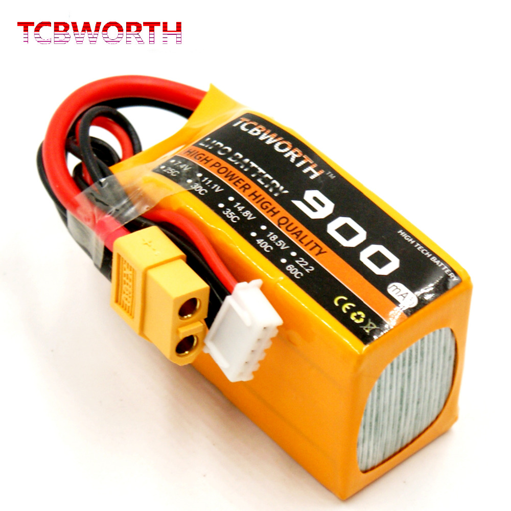 TCBWORTH 6S 22.2V 900mAh 25C RC LiPo battery For RC Helicopter Airplane Car Boat Quadrotor Remote Control Li-ion battery