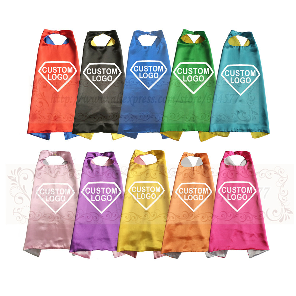 Promotional Capes Personalized Custom Logo Printed Pretty Colorful Your Advertising Text Included