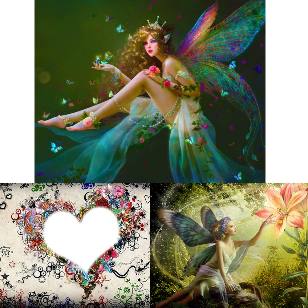 5D Diamond Embroidery Painting Cross Stitch Fairy Butterfly Wall Art Decor New.