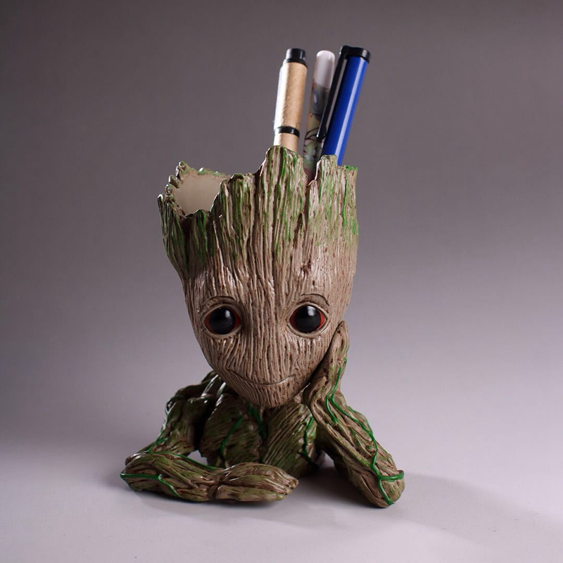 Super Hero Guardians of the Galaxy Action Figure Tree Man Flowerpot Toys Treeman Flower Pot Pen Holder Figura Baby Tree Man Toys