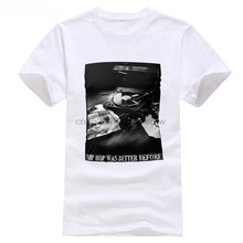 Hip Hop era mejor antes vinilo camiseta Rap vieja escuela raperos raras  Cool(China) 77136f16766