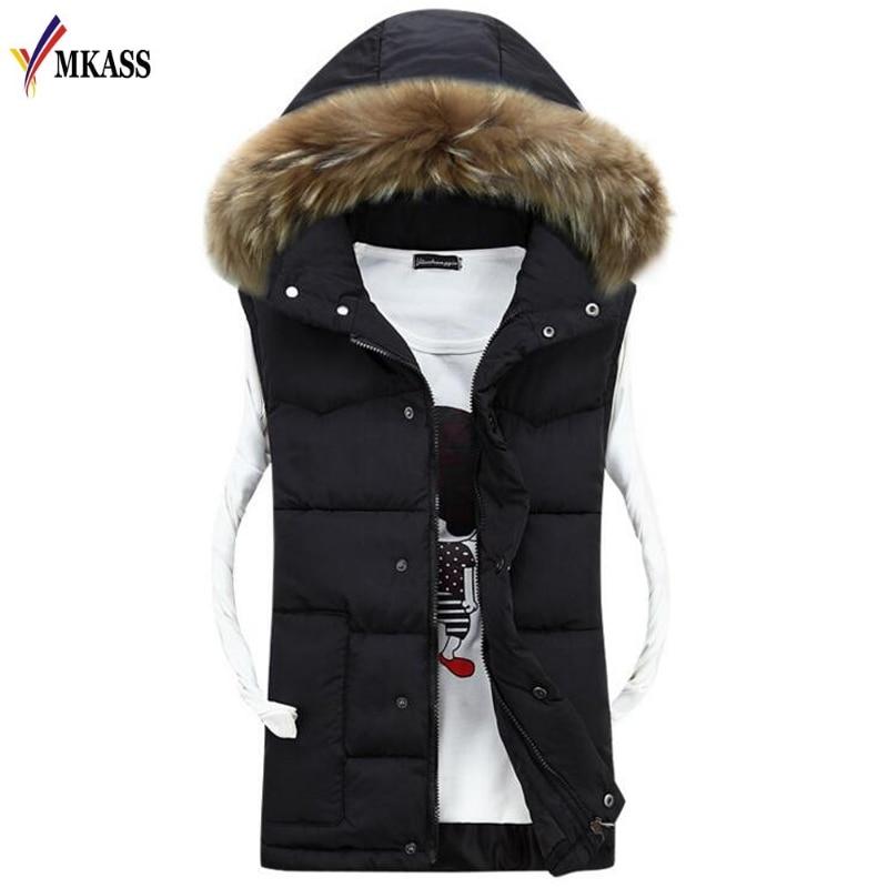 Winter New Men's Fashion Outerwear Leisure Casual Vest Coat Warm Sleeveless Jacket Men Military Waistcoat