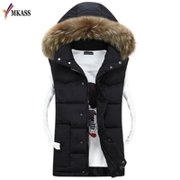 Winter New Men's Fashion Outerwear Leisure Casual Vest Coat Warm Sleeveless Jacket Men Military Waistcoat