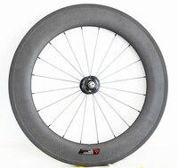 700c 88mm carbon clincher front wheels Novatec 165SB 25/23mm wide 3k matte 20h basalt brake surface for track carbonio bike