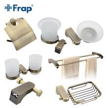Frap Cover Toilet  Paper Towel Holder Cup Holder Toilet Brush Space Aluminium Bath Accessories 7 Pieces F14T7
