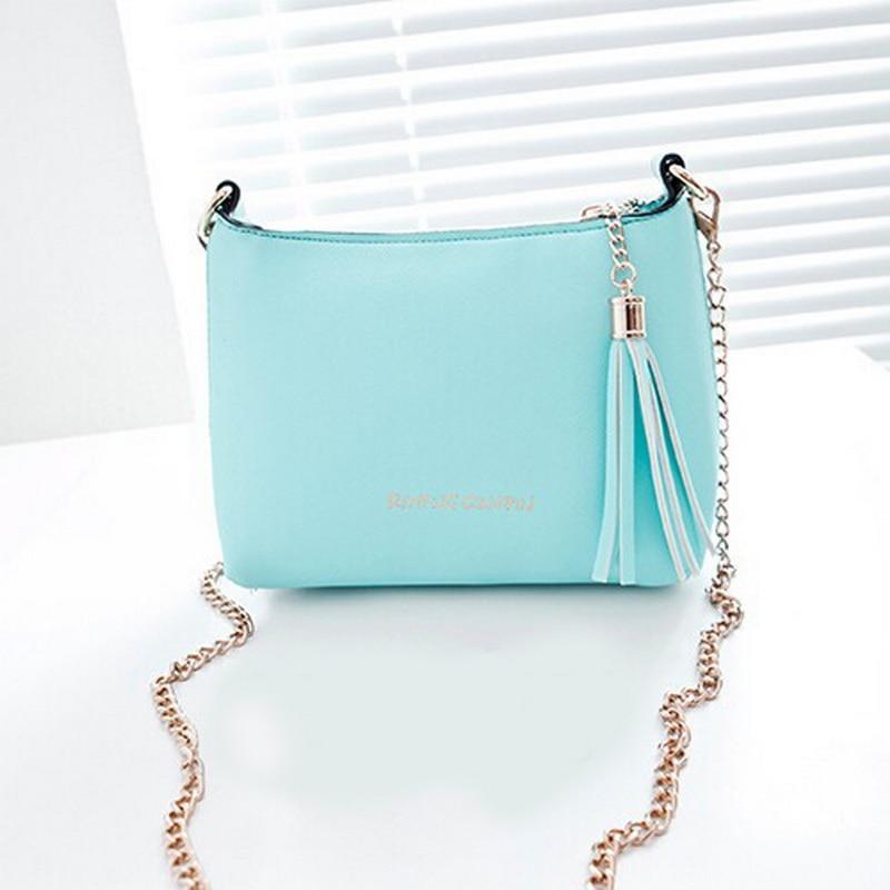NIBESSER Small Bags for Women PU Leather Shoulder Bag Tassel Chains Flap Crossbody Bag for Women Female Famous Brand Handbags