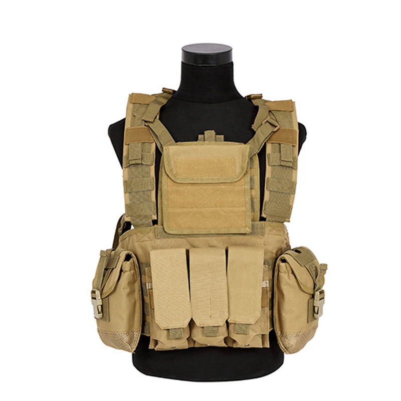 Military RRV Tactical Vest High Quality 600D Nylon Molle System CS Protective Vest CQC Tactical Protective