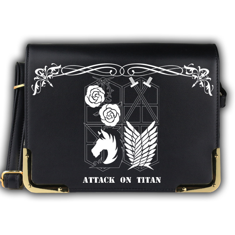 2017 New Attack on Titan Woman Anime Shoulder Crossbody Bag Satchel Work Fashion Bags Shingeki no Kyojin Messenger School Bag anime attack on titan mini messenger bag boys ataque on titan school bags mikasa ackerman eren shoulder bags kids crossbody bag