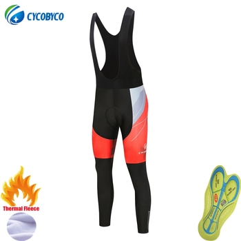 Cycobyco-Pantalones largos acolchados para Ciclismo, mallas de Gel para bicicleta de montaña