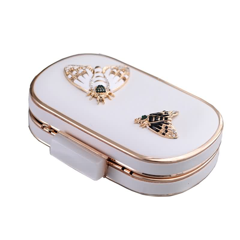 Diamond Pearls Beaded Insect Clutch Bag 3
