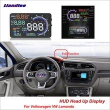 Liandlee Car Head Up Display HUD For Volkswagen VW Lamando 2014-2018 Dynamic Driving Computer HD Projector Screen OBD Detector