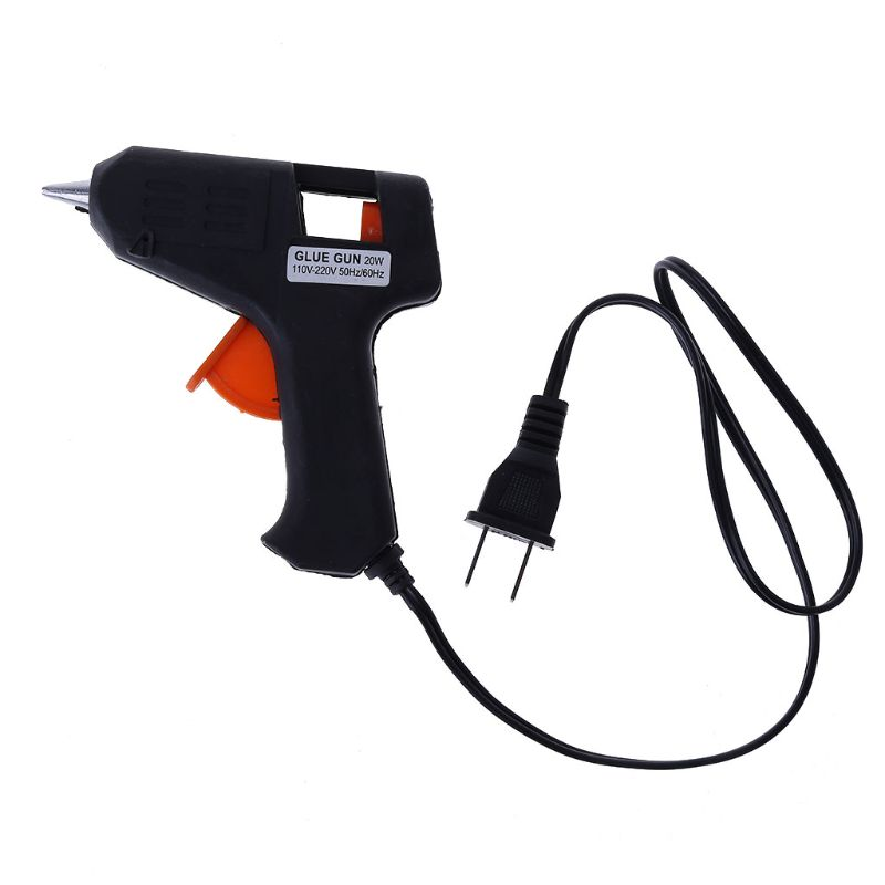 60W Electric Hot Melt Glue Gun Sticks Trigger Art Craft Repair Tool US Plug