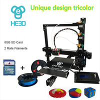 HE3D EI3 tricolor DIY 3D printer 24V power supply_ auto level _ large build size 200*280*200mm_three full metal extruders