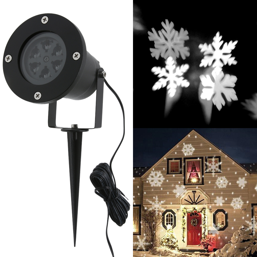 Waterproof Outdoor Moving Snow Laser Projector Lamp Snowflake Garden LED Stage Light For Christmas Party Landscape Lawn Light led film projector light lawn decorative wall night lamp indoor outdoor christmas party garden landscape decorative lighting