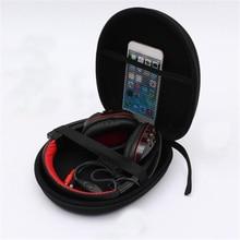 Common 20cm*18cm*5.5cm Black Carrying Exhausting Earphone Case Bag Field Holder Protector Headset Headphone Equipment