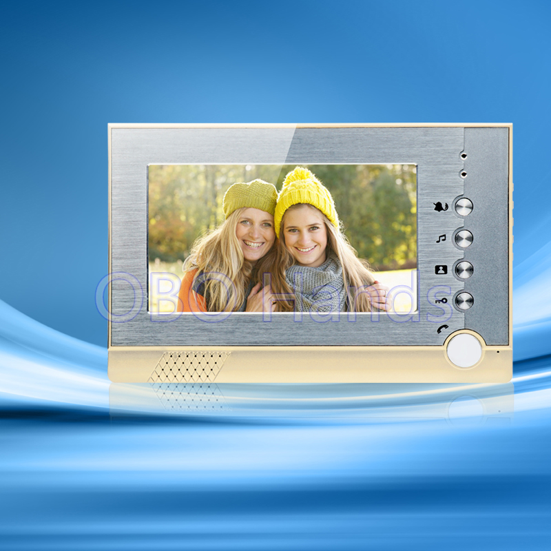 7'' TFT-LCD monitor screen video door phone without intercom video doorbell camera for home security system with low price hot sale tft monitor lcd color 7 inch video door phone doorbell home security door intercom with night vision