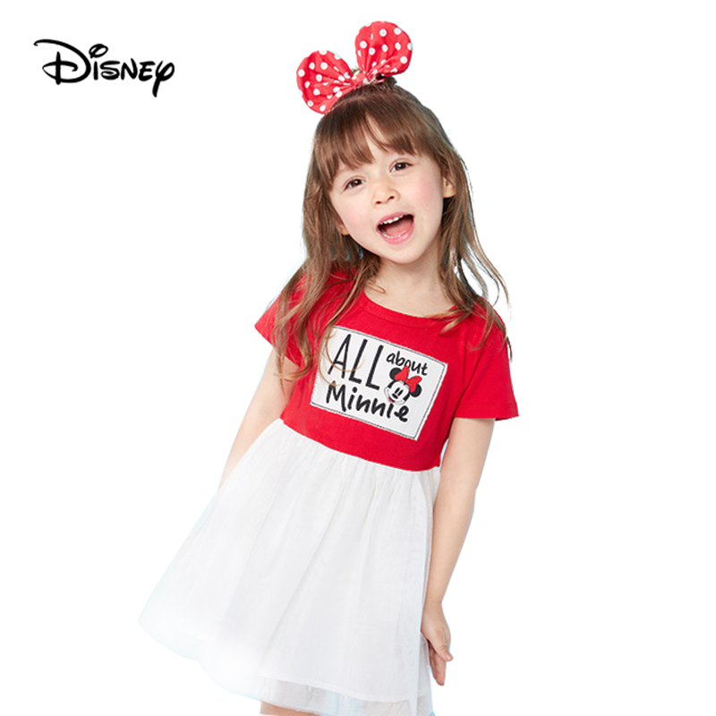 Disney baby girl clothes 2019summer girls dress Minnie ...