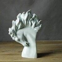 Керамика голова лошади Посмотреть вверх и вниз статуя Искусство и craft Орнамент фигурки животных