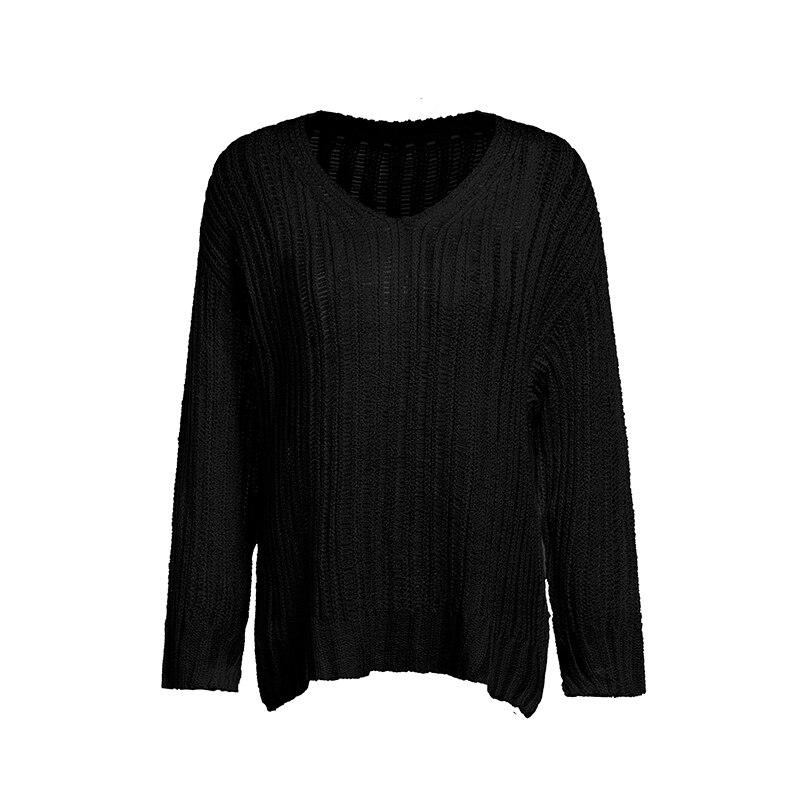 Everkaki Women Solid Knit Boho Sweaters Pullovers Long Sleeve Standard Cardigans Bohemian Holiday Female 2018 Autumn New (15)