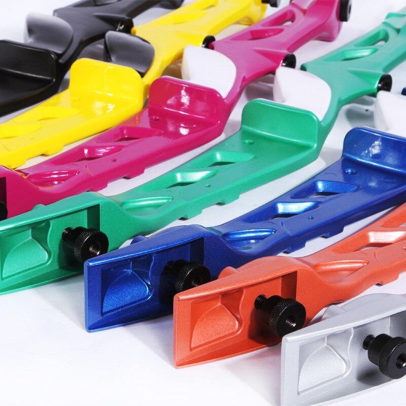 7 colores 18-40 lb Arco recurvado con vista Flecha Resto Manija de - Caza - foto 2