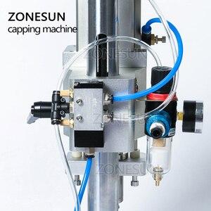 Image 5 - ZONESUN pneumatyczne doustne płynne rozwiązanie penicylina butelka Capper aluminium metalowe plastikowe fiolki Crimper maszyny zamykające