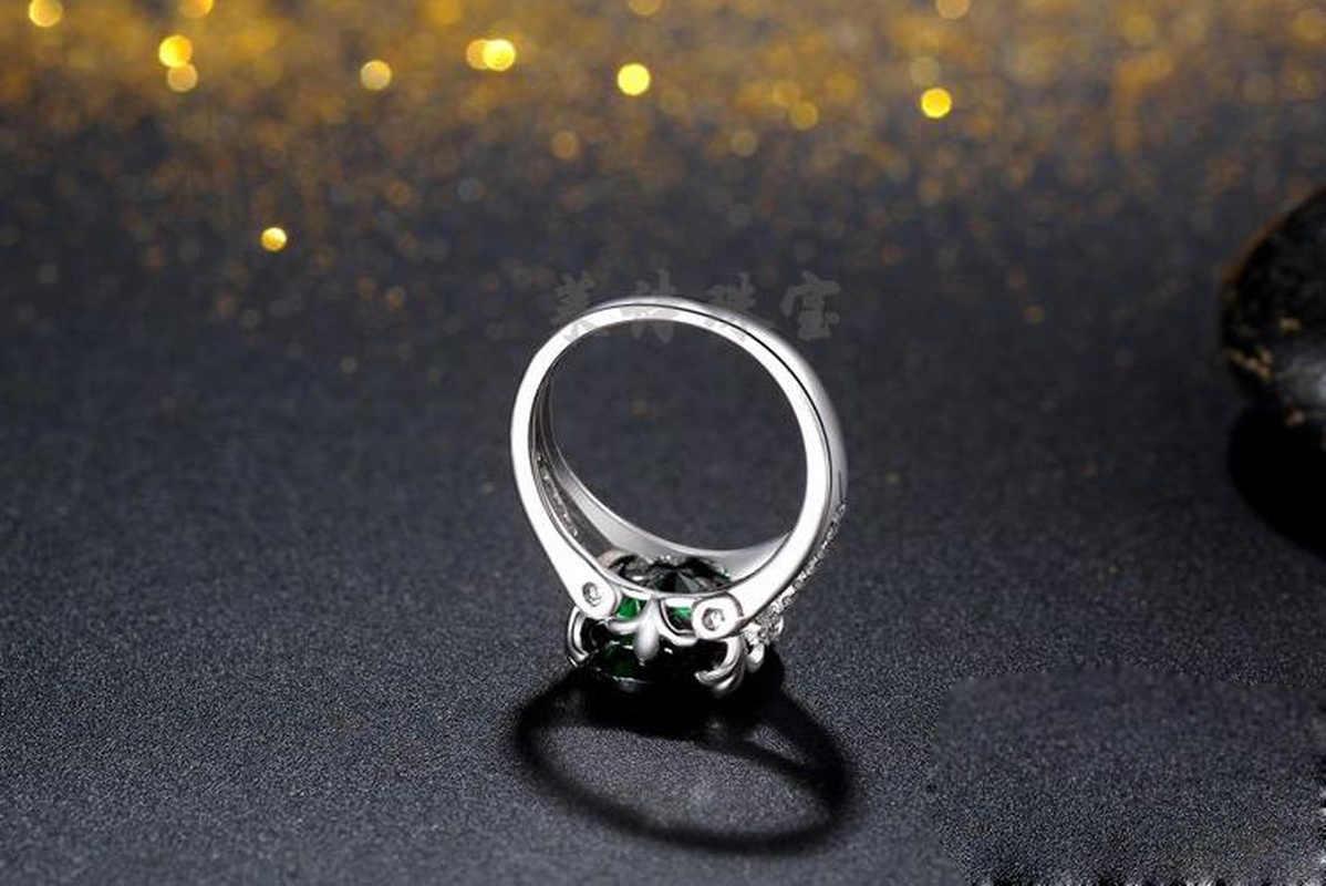 คลาสสิก retro หยก Lady แหวน Elliptical Zircon คุณภาพสูง CZ เครื่องประดับแหวนแฟชั่นของขวัญวันแม่ของขวัญผู้หญิงแหวน