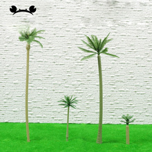 14pcs Artificial Miniature Palm Trees Scenery Layout Model Plastic Tree Train Coconut Rainforest Toys for Home Garden Decor