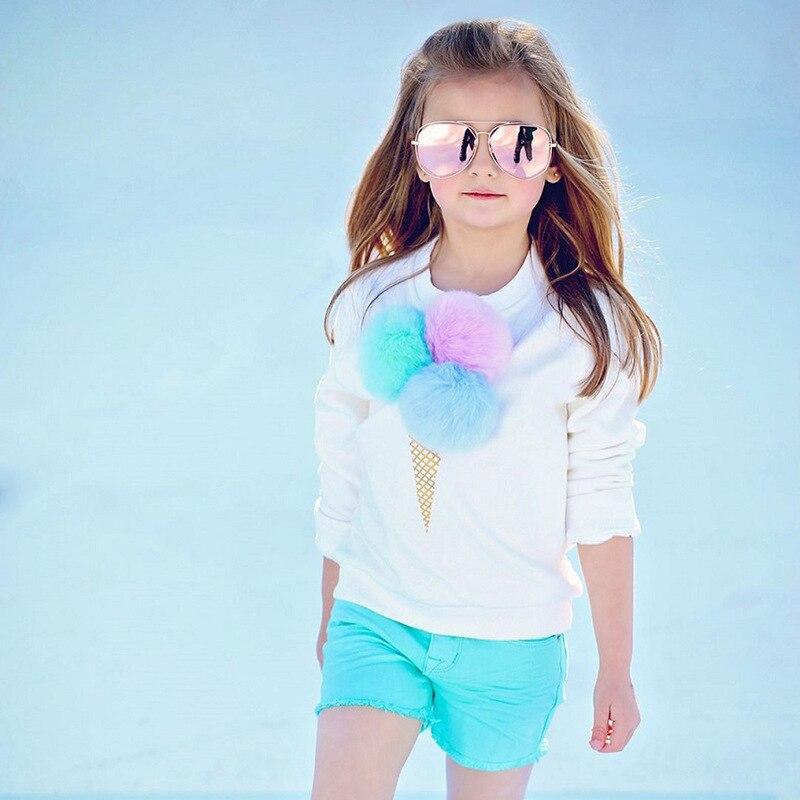 fashion child 2PCS Toddler Kids Baby Girls icecream pattern T-shirt Tops+Shorts Pants Outfit girls Clothes Set Infant Girls