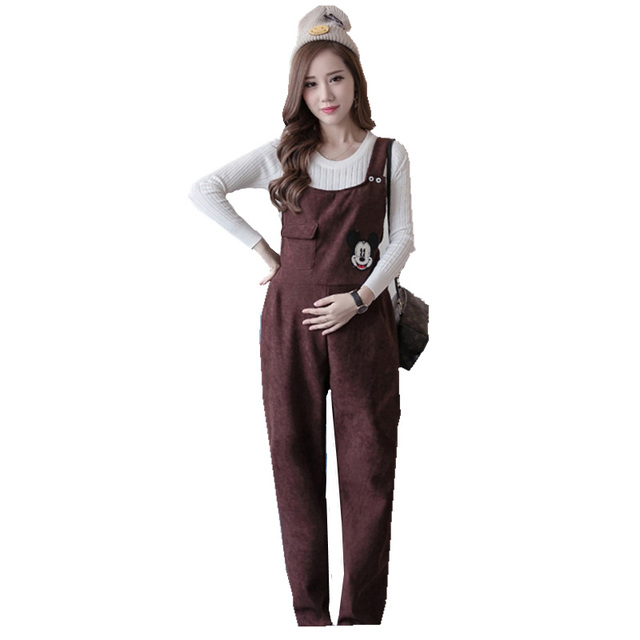 2017 Maternity Fashion  Overall cotton Jumpsuit Pregnant Women Pants