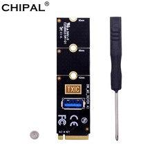 Chipal ngff m.2 para usb 3.0 cartão de transferência m2 m chave para usb3.0 adaptador para pci-e 1x a 16x riser cartão para mineiro