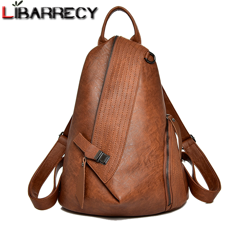 Casual Anti-theft Backpacks For Women Large Capacity School Bag For Girls High Quality Leather Shoulder Bags For Women 2018 New