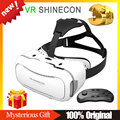 VR SHINECON 2.0 VR BOX BOBO VR Virtual Reality Glasses Google Cardboard 3D Glasses Goggles + Bluetooth Gamepad Controller Remote