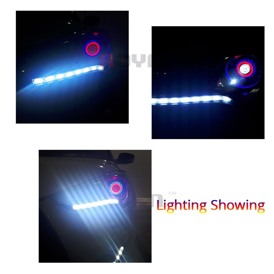 ROYALIN DRL Cüt mələk gözləri LED COB Halo Üzüklər Mini - Avtomobil işıqları - Fotoqrafiya 6
