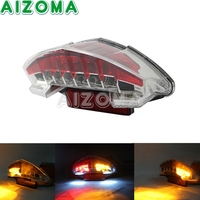 OEM Motorcycle Rear Tail Light Lamp LED Signal w/Red Reflector Taillight For BMW R1200GS F800S F800R F800GT F800ST ADV 2003 2014