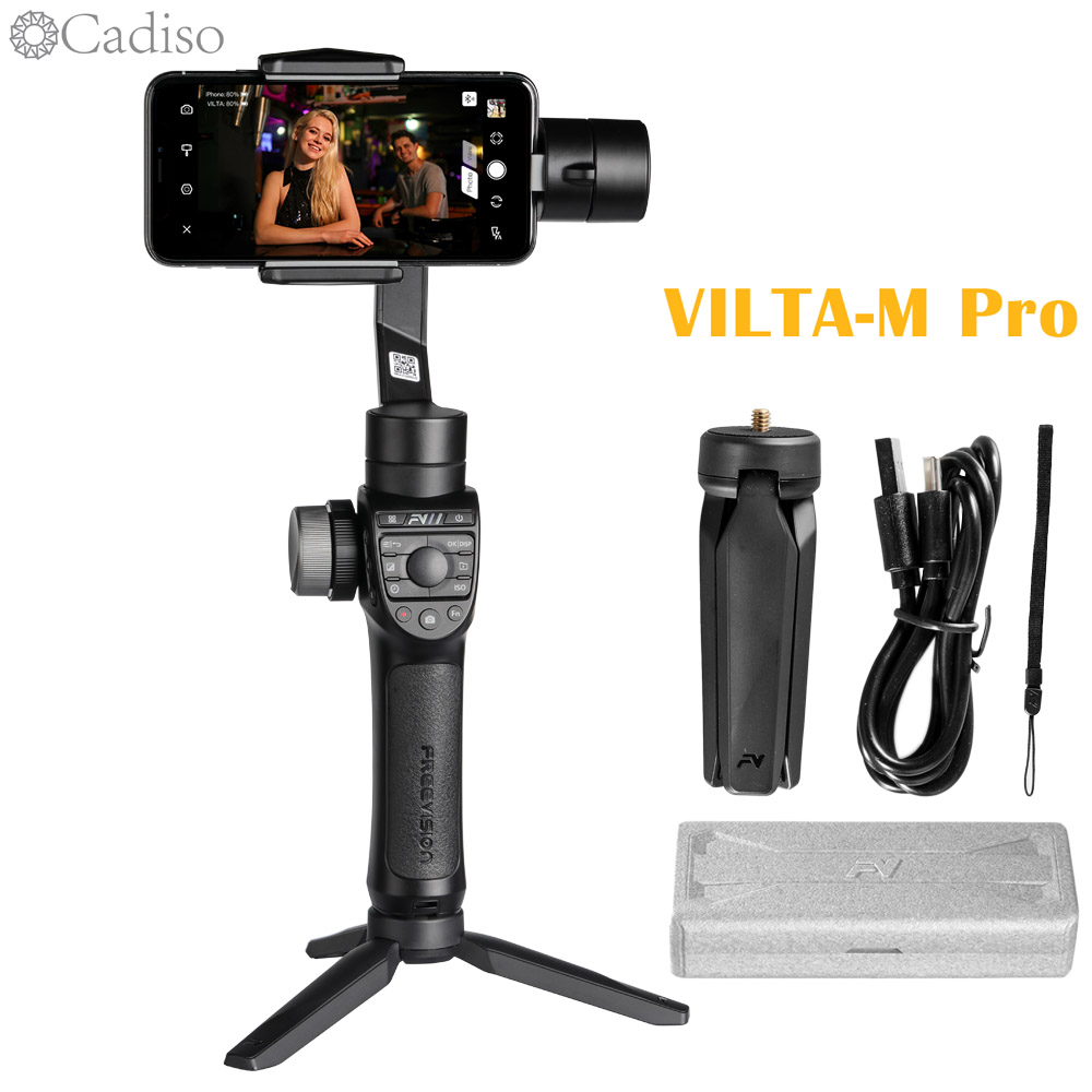 Cadiso Freevision Vilta m Pro 3-axis Handheld Gimbal Smartphone Video Stabilizer with Wireless Charging for iPhone Samsung Phone
