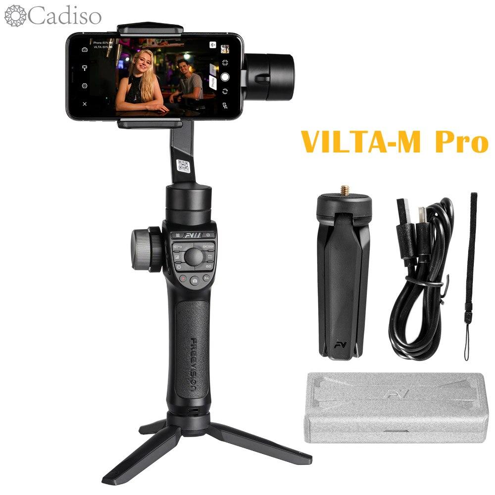 Stabilisateur vidéo de Smartphone à cardan 3 axes Cadiso Freevision Vilta m Pro avec chargement sans fil pour téléphone iPhone Samsung