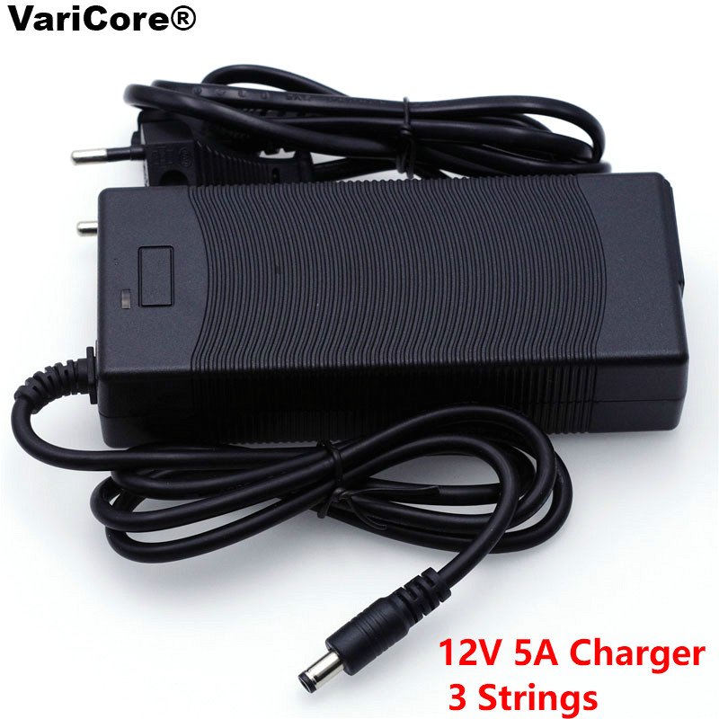 VariCore 12V 24V 36V 48V 3 Series 6 Series 7 Series 10 Series 13 String 18650 Lithium Battery Charger 12.6V 29.4V DC 5.5*2.1mm