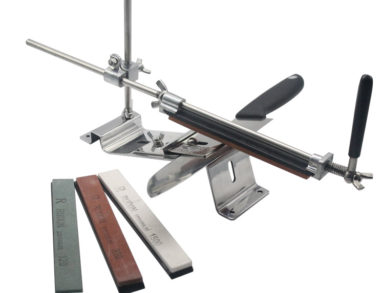 Professional Kitchen Full Metal Knife Sharpener System With 4 Stone 120# 320# 600# 1500# Grindstone Whetstone Machine