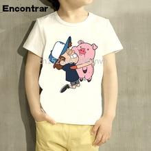 Gravity Falls Cartoon Mabel Dipper Pine Design Print Kid T-shirts Boy/Girl Summer Short Sleeve Tops Children T shirt,HKP3033 худи print bar gravity falls mabel pines