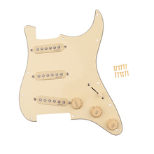 Wired Single Coil Pickup Scratch Plate with Mount Screws for ST Electric Guitar Musical Instrument Accessory Cream цена в Москве и Питере