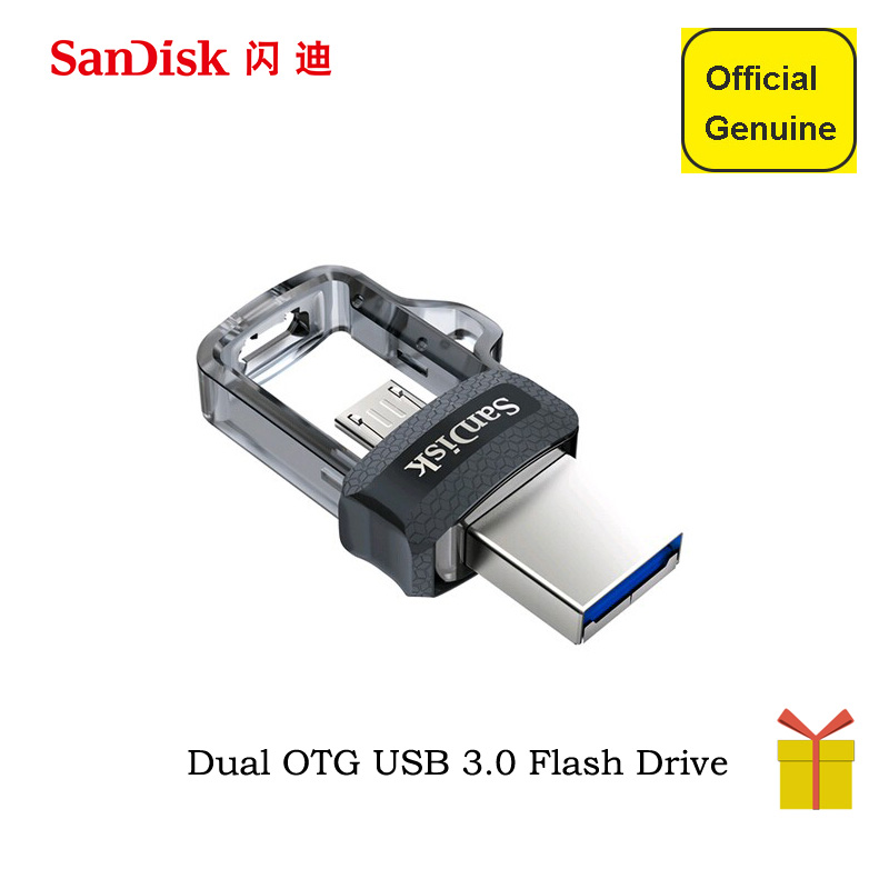 Sandisk USB Flash Drive 128GB 64GB 32GB 16GB 150MB/S OTG Usb 3.0 Pen Drive Mini U Disk Stick Usb Key with Micro USB for Phone sandisk otg usb flash drive dd3 usb mini flash drive high speed 16gb 32gb 64gb 128gb pen drive memory micro usb stick usb 3 0