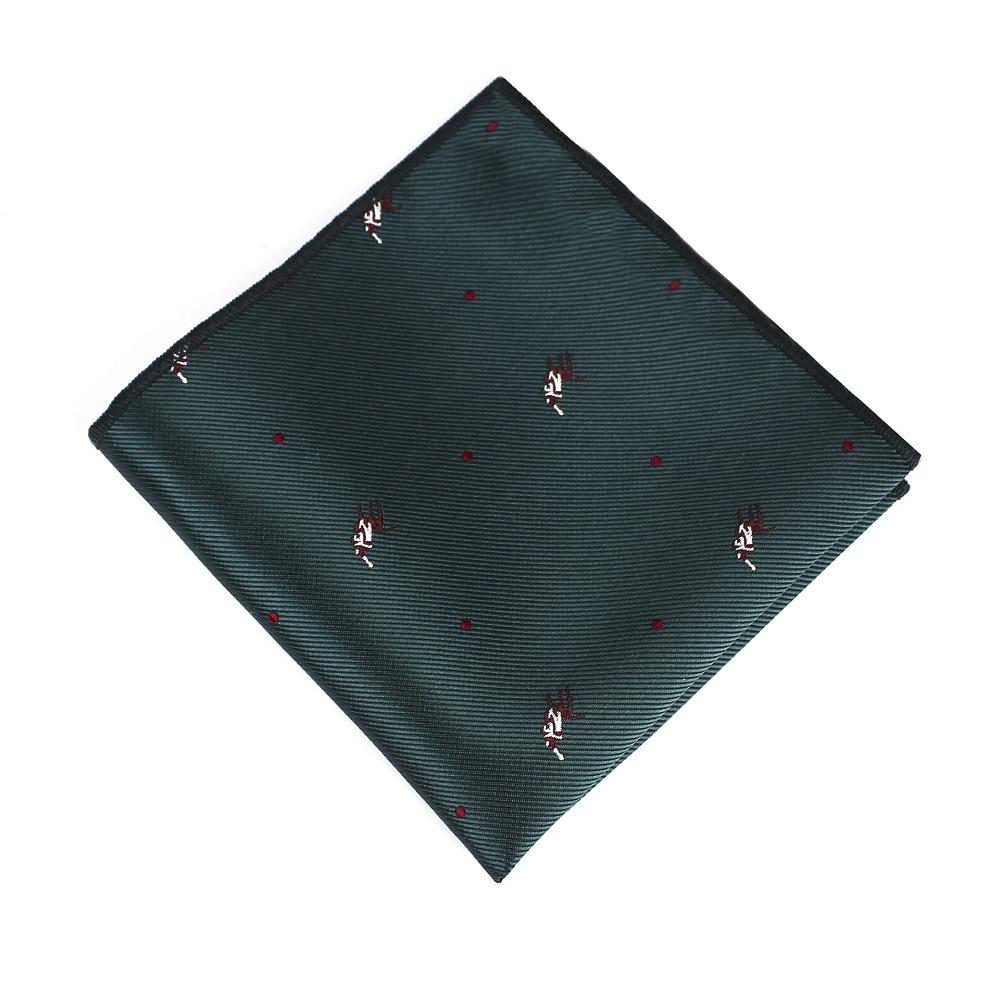 Bridegroom Wedding Business Tuxedo Suit Imitated Silk Green Red Blue Black Polka Dot Embroidery Pocket Square Towel Handkerchief