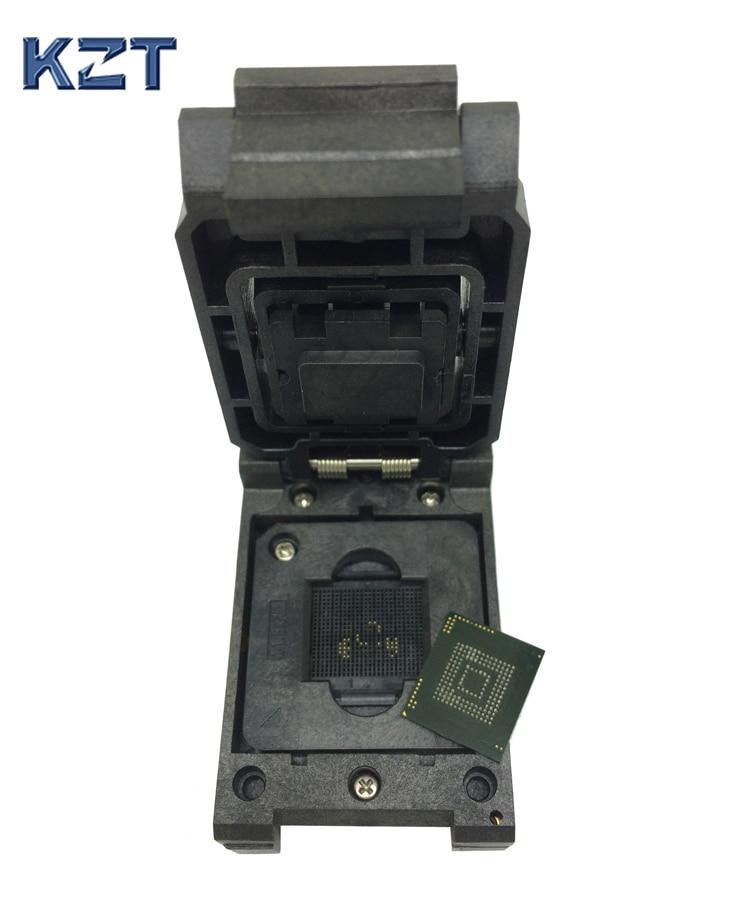 eMMC153 169 BGA153 BGA169 Burn in Socket Pin Pitch 0 5mm IC Body Size 14x18mm Clamshell