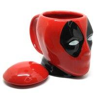 マーベルスーパーヒーローデッドプールセラミックスオフィス面白いギフト3dコーヒー攪拌棒環境保護ドリンククリエイティブビール茶カッ
