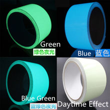 1pcs Super bright Noctilucent Fluorescent Tape for Car and Stage Decoration and Dance Reflective Glow Tape Self-adhesive Sticker(China)
